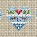 Festive Hearts Winter Cross Stitch Kit additional 1