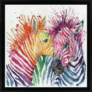 Colourful Zebras Cross Stitch Kit additional 2