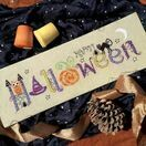 Halloween Banner Cross Stitch Kit additional 2