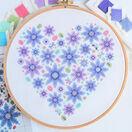 Floral Heart Sampler Cross Stitch Kit additional 4