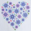 Floral Heart Sampler Cross Stitch Kit additional 1