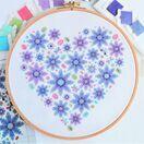 Floral Heart Sampler Cross Stitch Kit additional 3