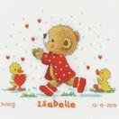 Bear & Hearts Birth Sampler Cross Stitch Kit additional 1