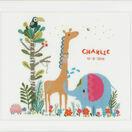 Jungle Animal Party Birth Sampler Cross Stitch Kit additional 2