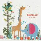 Jungle Animal Party Birth Sampler Cross Stitch Kit additional 1