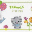Kitten & Friends Birth Sampler Cross Stitch Kit additional 1