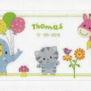 Kitten & Friends Birth Sampler Cross Stitch Kit additional 2