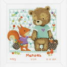 Bear & Squirrel Birth Sampler Cross Stitch Kit additional 2