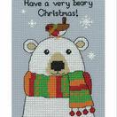 Bertie Polar Bear Cross Stitch Christmas Card Kit additional 1