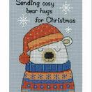 Barny Polar Bear Cross Stitch Christmas Card Kit additional 1