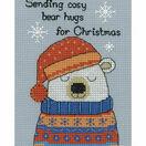 Barny Polar Bear Cross Stitch Christmas Card Kit additional 2
