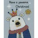 Bruce Polar Bear Cross Stitch Christmas Card Kit additional 2