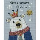 Bruce Polar Bear Cross Stitch Christmas Card Kit additional 1