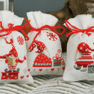 Christmas Gnomes Pot Pourri Bags Set of 3 Cross Stitch Kits additional 1