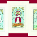 Stained Glass Christmas Cards Set C (set of 3) additional 1