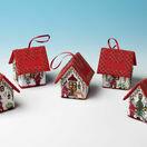 Set Of 5 Santa House 3D Cross Stitch Kits additional 1