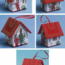 Set Of 5 Santa House 3D Cross Stitch Kits additional 2