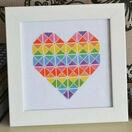 Geometric Heart Cross Stitch Kit additional 1