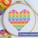 Geometric Heart Cross Stitch Kit additional 6