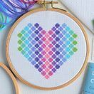 Beginners Spotty Heart - Learn How To Cross Stitch Complete Tutorial Kit additional 1