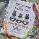 Bunny Baby Birth Sampler Cross Stitch Kit additional 1