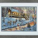 Winter Cabin Cross Stitch Kit additional 2