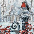 Christmas Morning Robin Cross Stitch Kit additional 1