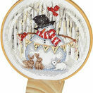 Joyful Snow Globe Cross Stitch Hoop Kit additional 1