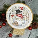 Joyful Snow Globe Cross Stitch Hoop Kit additional 2