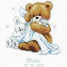 Teddy & Blanket Birth Record Cross Stitch Kit additional 1