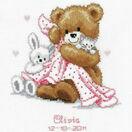 Teddy & Blanket Birth Record Cross Stitch Kit additional 2