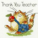 An Apple For Teacher Cross Stitch Card Kit additional 2