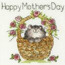Basket Of Roses Mother's Day Cross Stitch Card Kit additional 2
