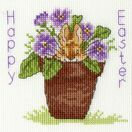 Easter Bunny Cross Stitch Card Kit additional 2