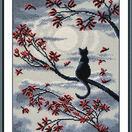 Moon Cat Cross Stitch Kit additional 2