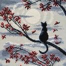 Moon Cat Cross Stitch Kit additional 1