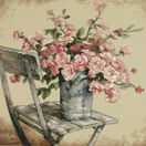 Roses On A White Chair Cross Stitch Kit additional 1
