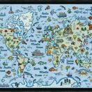 World Map Cross Stitch Kit additional 2
