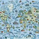 World Map Cross Stitch Kit additional 1