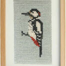 Great Spotted Woodpecker Beadwork Embroidery Card Kit additional 1