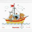 Sailing Boat Birth Sampler Cross Stitch Kit additional 2