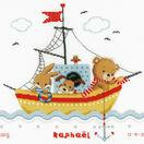 Sailing Boat Birth Sampler Cross Stitch Kit additional 1