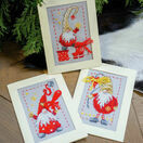 Christmas Gnomes 2 Cross Stitch Christmas Card Kits (Set of 3) additional 1
