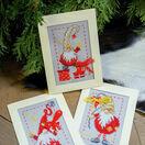 Christmas Gnomes 2 Cross Stitch Christmas Card Kits (Set of 3) additional 4