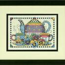 Teatime Pansies Cross Stitch Kit additional 2