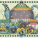 Teatime Pansies Cross Stitch Kit additional 1