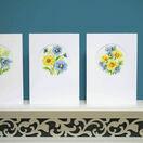 Blue & Yellow Flowers Set Of 3 Cross Stitch Card Kits additional 1