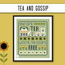Tea & Gossip Cross Stitch Kit additional 3
