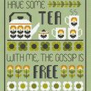Tea & Gossip Cross Stitch Kit additional 1