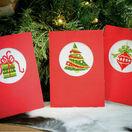 Christmas Circles Cross Stitch Card Kits Set of 3 additional 1